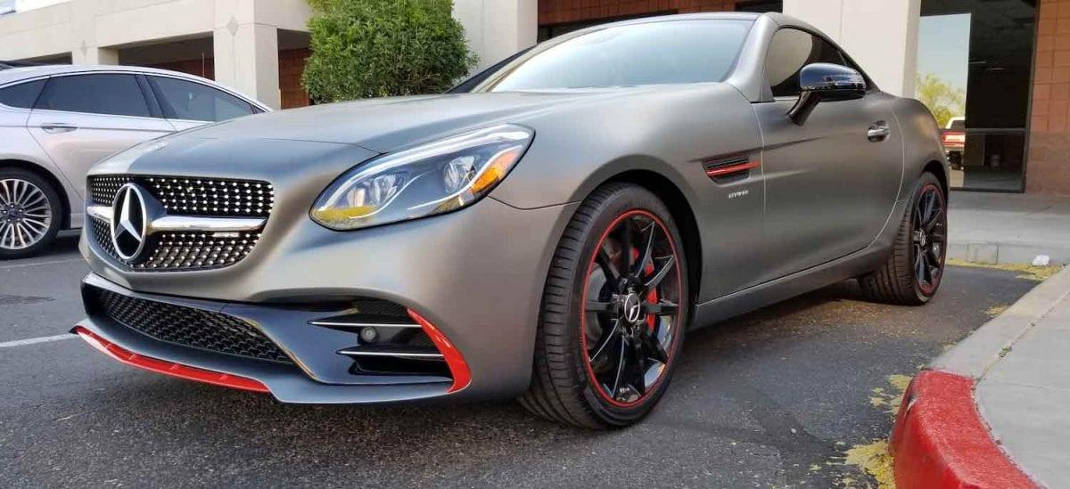 invisible clear bra on Mercedes Benz phoenix az