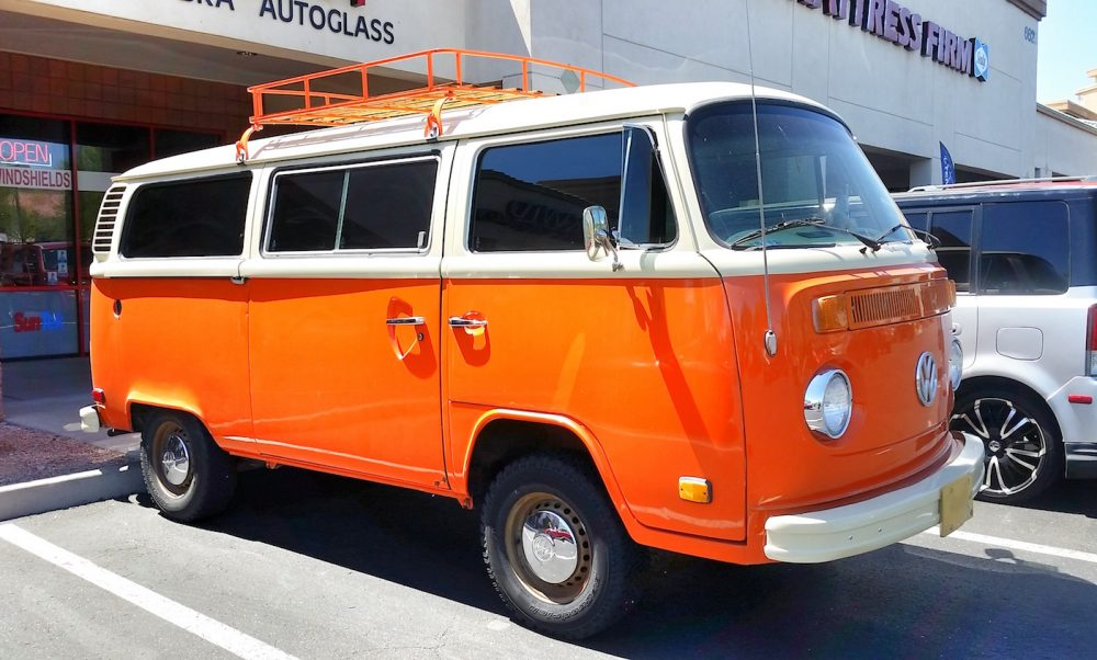 Orange Volkswagen Van Window Film