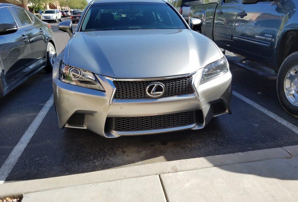 Silver Lexus Clear Bra